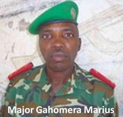 Le Major Gahomera Marius  à l'origine  de la peur et de la panique des jeunes des communes de Bujumbura.