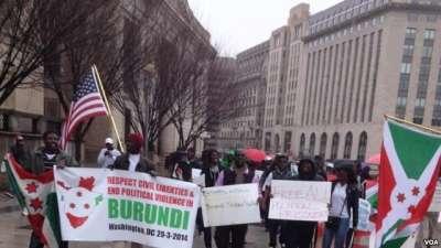 Infos en images : Marche-manifestation de Burundais samedi à Washington