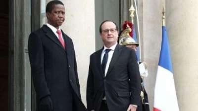 Les présidents français et zambien prônent un « dialogue inclusif » au Burundi