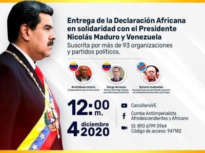 Déclaration de solidarité des Partis de gauche,révolutionnaires et progressistes Africains et au peuple frère de Venezuela et président Nicolas MADURO