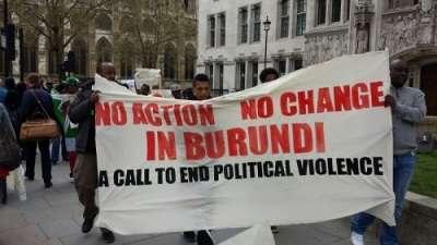 Infos en images : Marche-manifestation de Burundais samedi 05 avril à Londres